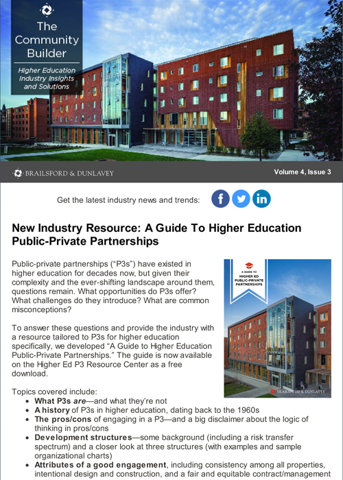 Community Builder: Higher Education Volume 4, Issue 3